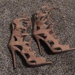 Tie up medium heel